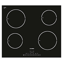 Buy Bosch PIA611F18E Induction Hob, Black Online at johnlewis.com