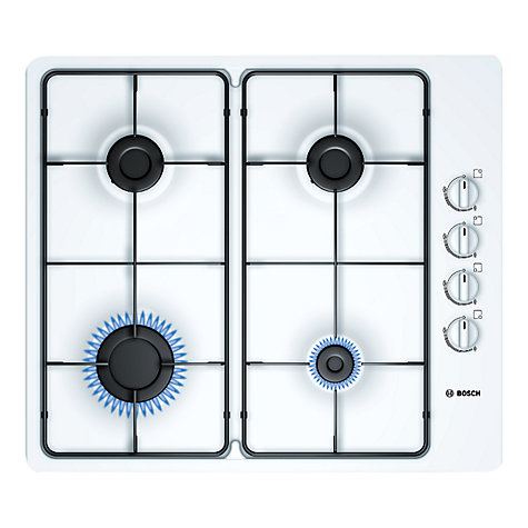 Buy Bosch PBP612B80E Gas Hob, White Online at johnlewis.com