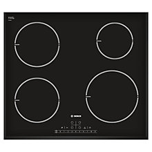 Buy Bosch PIE651F17E Induction Hob, Black Online at johnlewis.com