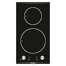 Buy Bosch PIE375C14E Domino Ceramic Induction Hob, Black Online at johnlewis.com