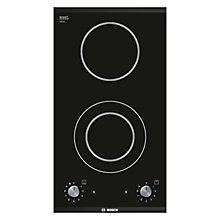 Buy Bosch PKF375V14E Domino Ceramic Hob, Black Online at johnlewis.com