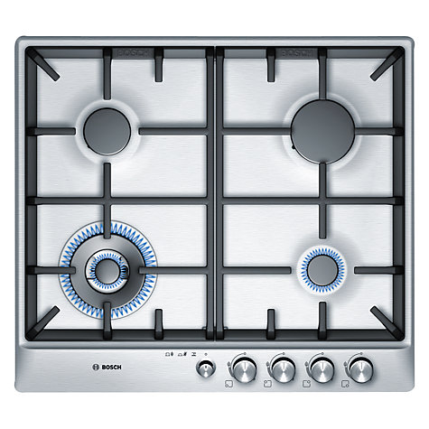 Buy Bosch PCH615M90E Gas Hob, Brushed Steel Online at johnlewis.com