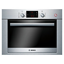 Buy Bosch Exxcel compact45 HBC34D554B Combination Steam Oven, Brushed Steel Online at johnlewis.com