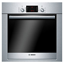 Buy Bosch Exxcel HBG53R550B Built-in Single Oven, Brushed Steel Online at johnlewis.com