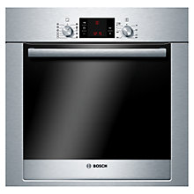Buy Bosch Exxcel HBG73R550B Built-in Single Oven, Brushed Steel Online at johnlewis.com