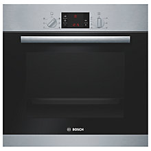 Buy Bosch HBA23B150B Built-in Single Oven, Brushed Steel Online at johnlewis.com