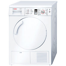 Buy Bosch Classixx WTE84301GB Sensor Condenser Tumble Dryer, 7kg Load, B Energy Rating, White Online at johnlewis.com