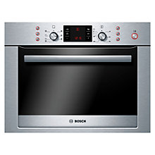 Buy Bosch HBC84E653B Built-In Combination Microwave, Brushed Steel Online at johnlewis.com
