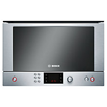 Buy Bosch HMT85GL53B Built-In Compact Microwave with Grill, Brushed Steel Online at johnlewis.com
