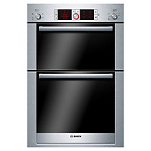Buy Bosch Logixx HBM56B551B Built-in Double Electric Oven, Brushed Steel Online at johnlewis.com