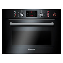 Buy Bosch HBC84E663B Built-In Combination Microwave, Black Online at johnlewis.com