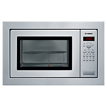 Buy Bosch HMT84G651B Compact Built-In Microwave with Grill, Brushed Steel Online at johnlewis.com