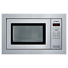 Buy Bosch HMT84M651B Built-In Compact Microwave, Brushed Steel Online at johnlewis.com