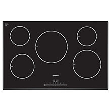 Buy Bosch PIM851F17E Induction Hob, Black Online at johnlewis.com