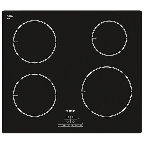 Buy Bosch PIE611B18E Induction Hob, Black Online at johnlewis.com