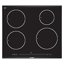 Buy Bosch PIE675N14E Ceramic Induction Hob, Black Online at johnlewis.com