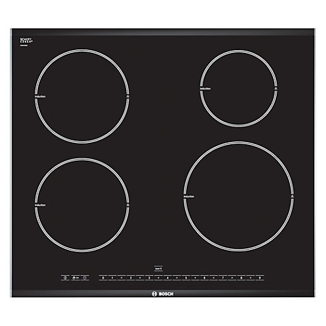 Buy Bosch PIE675N14E Induction Hob, Black Online at johnlewis.com