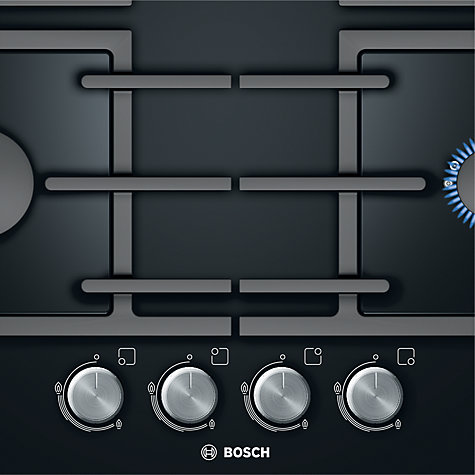 Buy Bosch PPP616B91E Gas Hob, Black Online at johnlewis.com