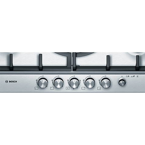 Buy Bosch PCR715M90E Gas Hob, Brushed Steel Online at johnlewis.com