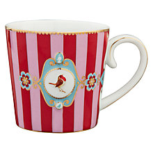 Buy PiP Studio Love Birds Striped Mug, 0.25L, Red Online at johnlewis.com