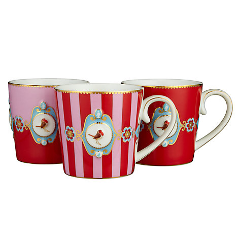 Buy PiP Studio Love Birds Mugs, 0.25L, Set of 3, Multi Online at johnlewis.com