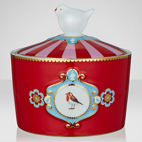 Buy PiP Studio Love Birds Sugar Bowl, Dia.22cm, Red Online at johnlewis.com