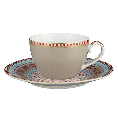 PiP Studio Ribbon Rose Espresso Cup & Saucer Set