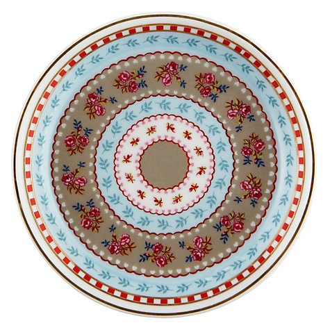 Buy PiP Studio Ribbon Rose Tea Plates, Set of 4, Khaki Online at johnlewis.com