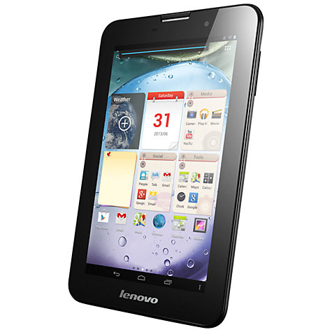"Buy Lenovo IdeaTab A3000 Tablet, Quad-core Processor, Android, 7"", Wi-Fi, 16GB, Black Online at johnlewis.com"