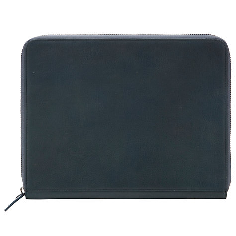 "Buy John Lewis Leather Zip Sleeve for Tablets up to 10.1"", Blue Online at johnlewis.com"