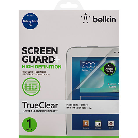 Buy Belkin TrueClear Anti-Smudge Screen Protector for Samsung Galaxy Tab 3 10.1 Online at johnlewis.com