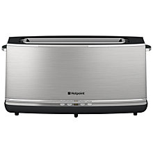 Buy Hotpoint Long Slot 2-Slice Toaster, Stainless Steel Online at johnlewis.com
