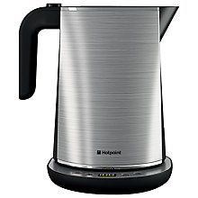 Buy Hotpoint Digital Kettle and Long Slot 1-Slice Toaster, Stainless Steel Online at johnlewis.com