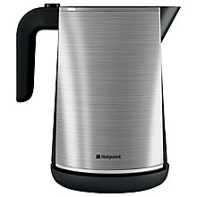 Buy Hotpoint Kettle and Long Slot 1-Slice Toaster, Stainless Steel Online at johnlewis.com