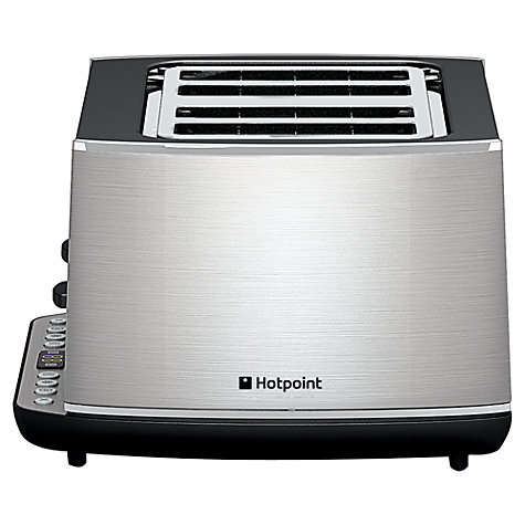 Buy Hotpoint TT44EAX0UK 4-Slice Toaster, Stainless Steel Online at johnlewis.com
