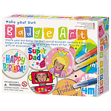 Buy Great Gizmos Make Your Own Badge Art Kit Online at johnlewis.com