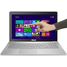 "Buy Asus N550JV Laptop, Intel Core i7, 8GB RAM, 1TB, 15.6"" Touch Screen, Black Online at johnlewis.com"