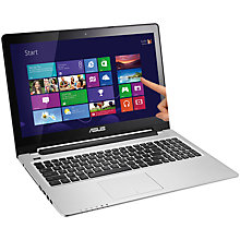 "Buy Asus Vivobook S550CA Laptop, Intel Core i5, 6GB RAM, 1TB, 15.6"" Touch Screen, Grey Online at johnlewis.com"