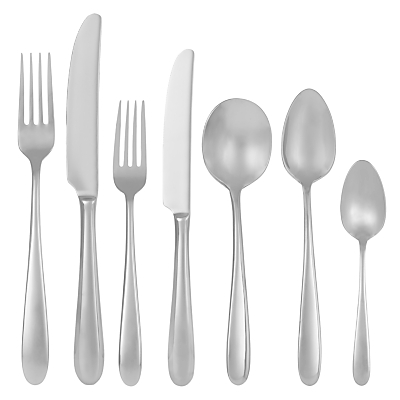 John Lewis Outline Cutlery Set, 7 Piece