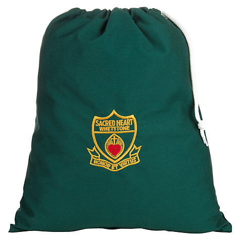 Buy Sacred Heart Primary School Whetstone Unisex PE Bag, Green Online at johnlewis.com