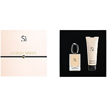 Buy Giorgio Armani Si Eau de Parfum Gift Set, 30ml Online at johnlewis.com