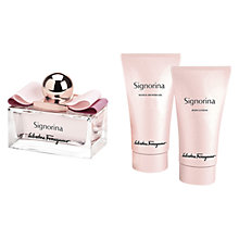 Buy Salvatore Ferragamo Signorina Eau de Parfum Fragrance Gift Set, 50ml Online at johnlewis.com