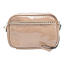 Buy Mango Chain Patent Shoulder Handbag Online at johnlewis.com