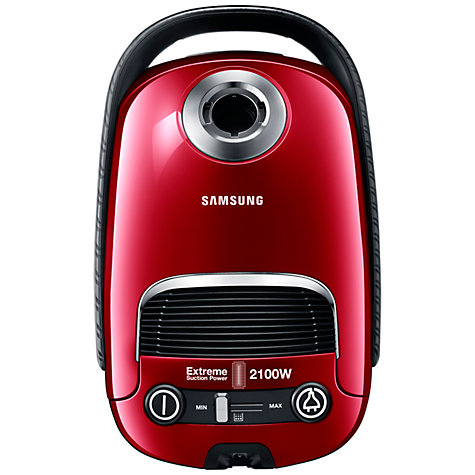 Buy Samsung VC21F60JDDR Cylinder Vacuum Cleaner, Vitality Red Online at johnlewis.com