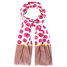 Buy White Stuff Polka Dots Scarf, Pink Sherbet Online at johnlewis.com
