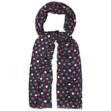 Buy White Stuff Fjord Star Scarf, Dark Granite Online at johnlewis.com