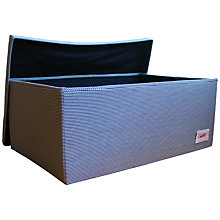 Buy Minene Large Striped Storage Box, Blue Online at johnlewis.com