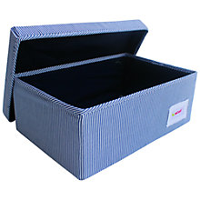 Buy Minene Small Striped Storage Box, Navy Online at johnlewis.com