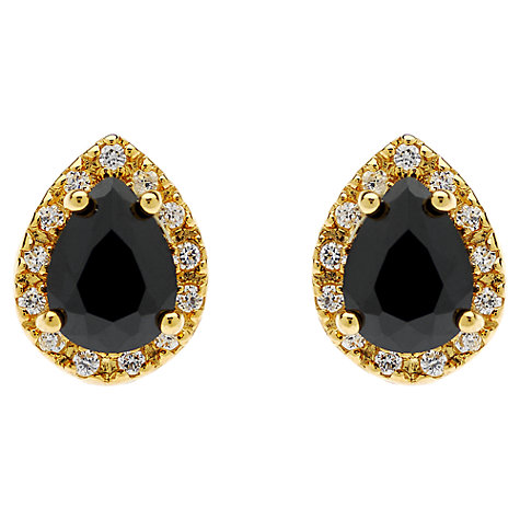 Buy Jou Jou Sterling Silver Teardrop Cubic Zirconia Stud Earrings Online at johnlewis.com
