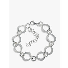 Buy Nina B Sterling Silver Twisted Open Link Bracelet Online at johnlewis.com